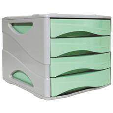 Cassettiera Keep Colour Pastel Verde Arda