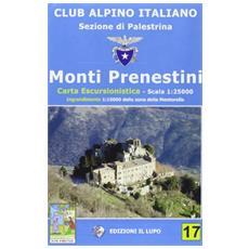Monti Prenestini. Carta escursionistica 25:000