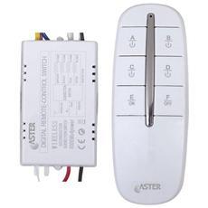 Interruttore Elettronico Wireless Radiocontrollato 3 Vie 433mhz Portata 30m