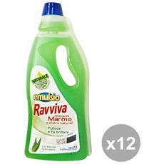 Set 12 Pavimenti Ravviva Marmo-ceramica Verde 750 Ml. Detergenti Casa