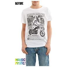 T-shirt Stampa Che Cambia Jr Bianco S