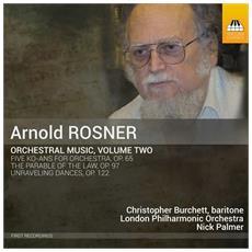 Arnold Rosner - Opere Per Orchestra (Integrale), Vol. 2