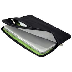"60760095 13.3"" Custodia a tasca Nero, Verde borsa per notebook"