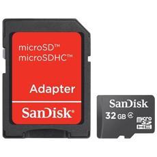 MicroSDHC da 32 GB con Adattatore SD