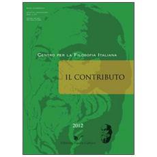 Il contributo (2012) vol. 1-2