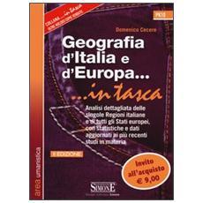 Geografia d'Italia e d'Europa. . . in tasca