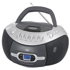 Radio Portatile CMP 580 USB Sintonizzatore AM / FM Lettore CD porta USB Slot Musicassette