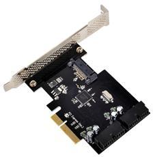 Controller SST-ECU01, PCIe, USB 3.0, Nero