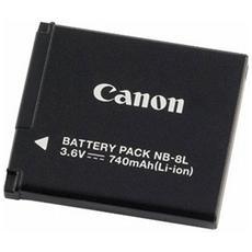 Batteria Ricaricabile NB-8L per Powershot