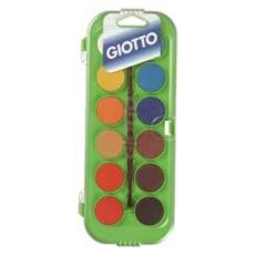 colori acquerello in 12 colori pastiglie da ø30mm giotto
