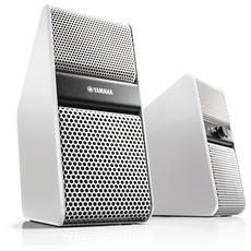 Coppia di Diffusori Acustici NX-50 Potenza 14Watt TV / PC / Tablet / Smartphone colore Bianco