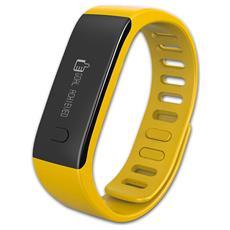 Activity Tracker ZeFit Bluetooth Monitoraggio Attività Fisica con Promemoria Giallo - Europa
