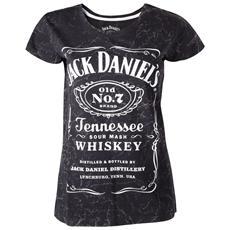 Jack Daniel's - Marble Wash Effect / Log Printed (T-Shirt Donna Tg. XL)