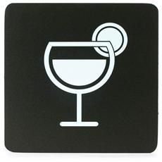 Segnaletica Targa Area Bar Cocktail Pittogrammi 16X16 Con Adesivo