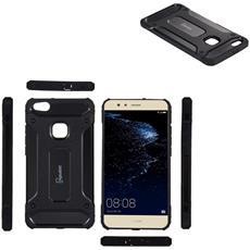 Cover Huawei P10 Lite, Digital Bay Cover Huawei P10 Lite [ tpu Lunga Durata] Tpu E Plastica Nero Massima Protezione Da Urti E Cadute, Custodia Huawei P10 Lite