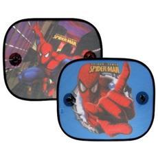 """Tendine Parasole Laterali Per Auto (coppia) """" Spiderman"""" Disney Cm 44x36"""