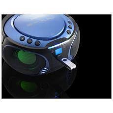 SCD-550, FM, CD, CD-R, CD-RW, CA / Batteria, LCD