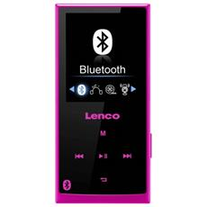 Xemio 760 BT 8GB, MP4, Nero, Rosa, Flash-media, MicroSD (TransFlash) , TFT, APE, FLAC, MP3, OGG, WAV, WMA