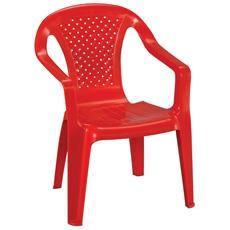 4 Sedie in polipropilene per bambini cm 36,5x40x52 H Colore rosso