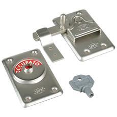Catenaccio Libero / Occupato con chiave in acciaio verniciato