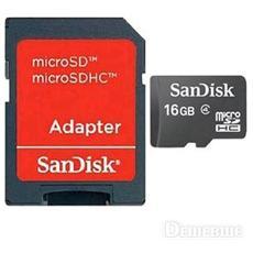 Micro SD 16GB HC + adattatore per SD