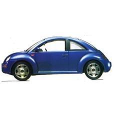 Burago-volkswagen N. Beetle Blu 1/18