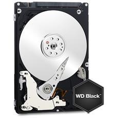 """Hard Disk Interno WD Black 1 TB 2.5"""" Interfaccia eSATA 6Gb / s Buffer 32 MB 7200 Rpm"""