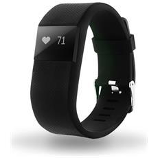 Activity Tracker Cardiofrequenzimetro con Bluetooth Colore Nero