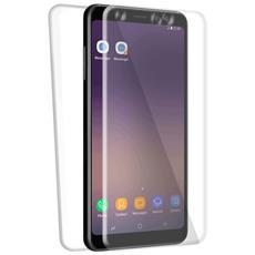 Cover in TPU Fronte / Retro Specter per Galaxy S9 colore Trasparente