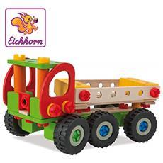 Simba- Autogru Da Cantiere, 190 Pezzi, Set Da Costruzione, 4 Diverse Varianti Di Modello Costruibili, Legno Di Faggio Certificato Fsc 100%, 100039039