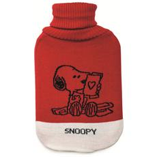 Borsa acqua calda Peanuts Snoopy rossa.