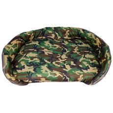 Cuccia / Panchetta Per Animali Con Stampa Militare Verde, Un Singolo Pezzo (74x50x14)