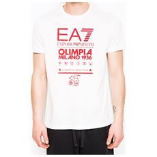 T-shirt Uomo Ea7 Olimpia Milano M Bianco
