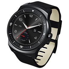G Watch R, Rotondo, Ioni di Litio, Nero, Nero, Micro-USB, Antipolvere, Resistente all'acqua