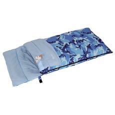 Sacco a Pelo Junior 150 Camo Blu 160x72 cm