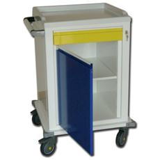 Modular Trolley - Painted Steel - 1 Drawer + 1 Shelf