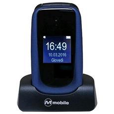 "Facile Duo Blu Dual Sim Display 2.4"" Bluetooth Fotocamera 2Mpx RadioFM Tasto SOS"