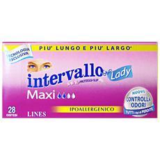 intervallo lady maxi 28 salvaslip distesi