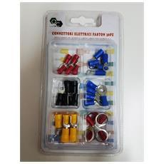 Kit 30 Pezzi Connettori Elettrici Faston Sv Rv Occhielli Per Cavi Fili Isolatori