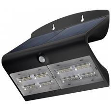 I-HLED-OWL-68WB - Lampada LED Solare a Muro IP65 Sensore di Movimento Crepuscolare Nero