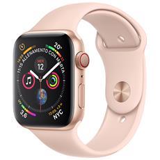 APPLE - Watch Series 4 GPS + Cellular 44 mm Cassa in alluminio color oro  con cinturino Sport rosa sabbia 6296c7be89f9