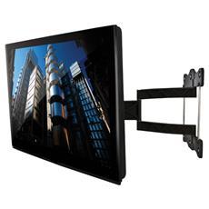 """Supporto Montaggio a Parete per Monitore LCD Acciaio Nera 52"""" 25 kg 180° BTV514 / B"""