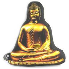 a forma di cuscino 'bouddha' dorato nero - [ m9605]