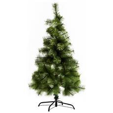 Albero Di Natale Artificiale 120cm Con 124 Folti Rami Verde