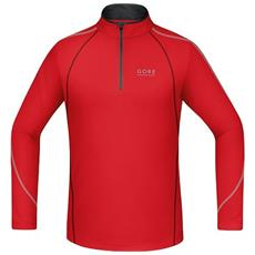 T-shirt Uomo Essential Zip Shirt Long Xl Rosso