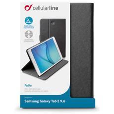 37079, Foglio, Nero, Finta pelle, Plastica, Samsung, Galaxy Tab E, Antipolvere, Antigraffio