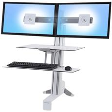 WorkFit-S Dual with Worksurface+ - Supporto per 2 schermi LCD