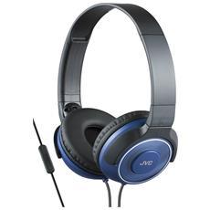 Cuffie Leggere ad Alta Qualità con Microfono e Telecomando colore Blu