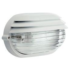 Plafoniera bianca esterno vetro trasparente attacco a soffito o parete
