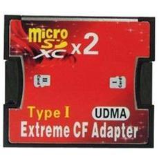 Adattatore Extreme Da 2 Micro Sd / sdhc / sdxc A Compact Flash Card Type 1